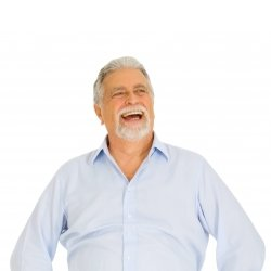 Retired pensioner laughing