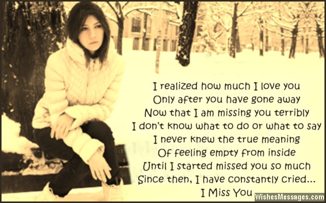 Sad missing you poem from girl to boy