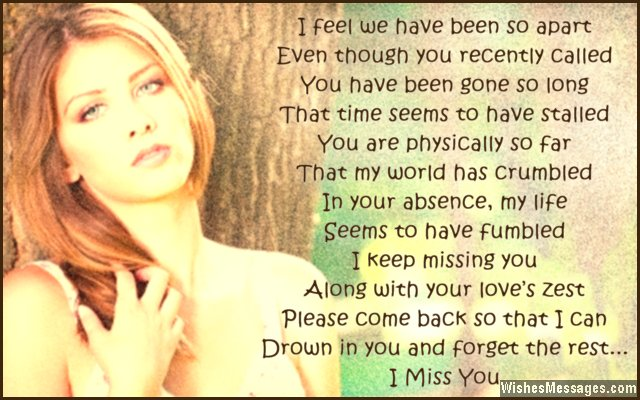I Miss You Poems For Boyfriend Missing You Poems For Him