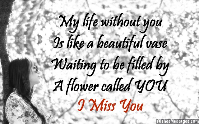Miss You Messages for Boyfriend: Missing You Quotes for Him ...