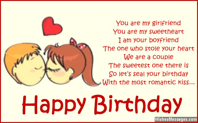 birthday poems for girlfriend  wishesmessages, Birthday card