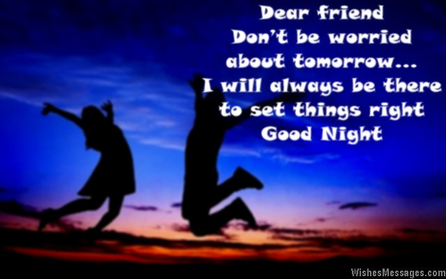 Sweet good night message for friends