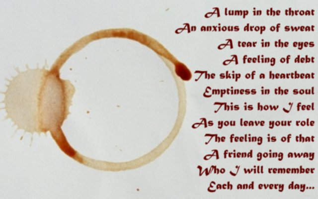 Sweet goodbye poem for colleagues farewell speech