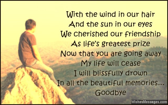 Sweet goodbye quote for friends
