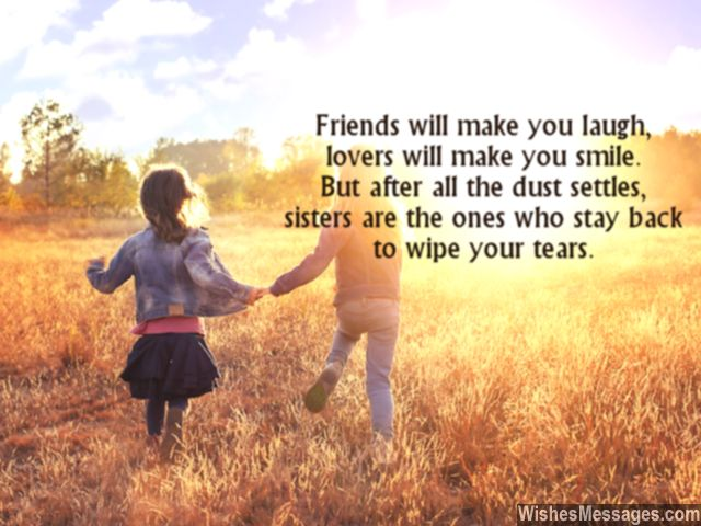 Sweet quote about sisters and how they support you