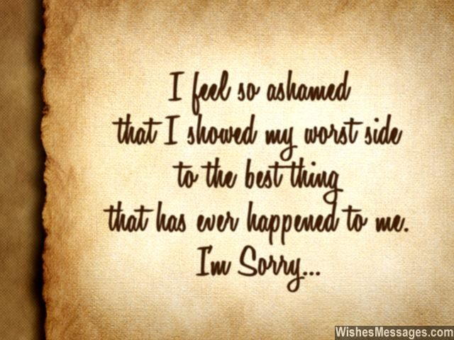 I Am Sorry Messages for Husband Apology Quotes for Him