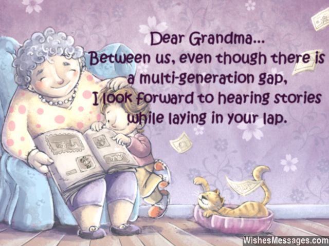 cute birthday message for adorable grandmothers