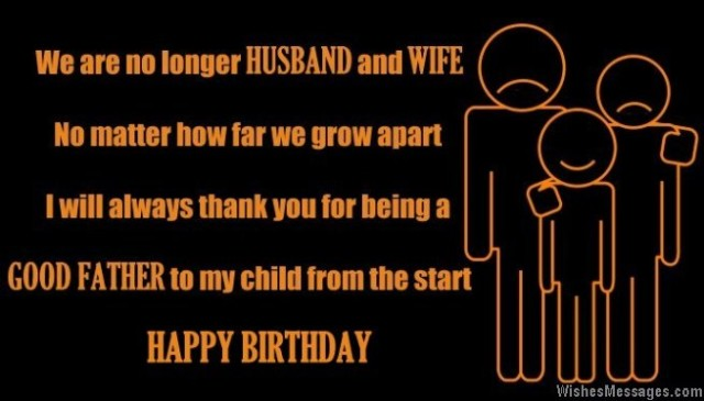 Birthday wish for ex-husband
