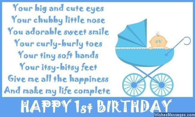 1st Birthday Poems Happy First Birthday Poems Wishesmessages
