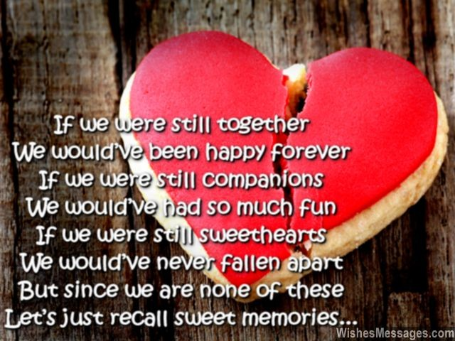 Cute poem to ex-boyfriend from girlfriend on birthday after breakup