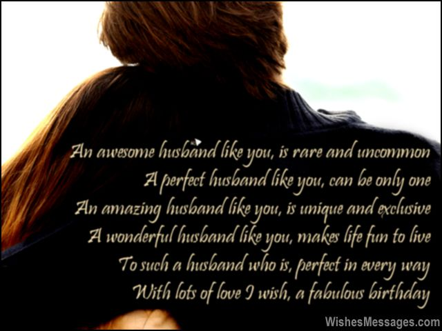 Birthday Poems For Husband Wishesmessages Com