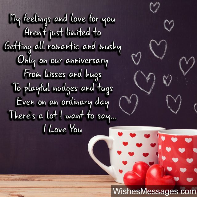 I love you poem for husband every day hugs and kisses