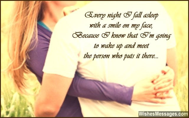 Romantic good night quote for girlfriend