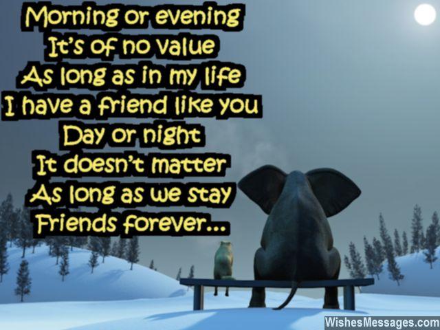 Sweet good night poem for friends share on pinterest