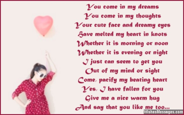 Sweet i like you poem for him