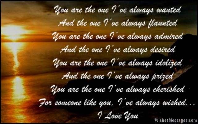 Sweet i love you poem for husband