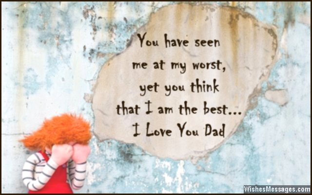 Dad Quotes From Daughter | I Love You Messages For Dad Quotes Wishesmessages Com