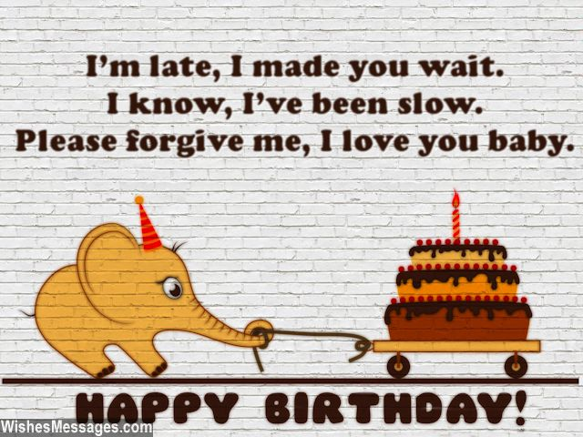 Sweetest belated birthday quote for cute greeting card