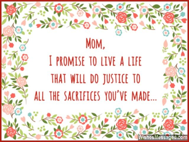Thank You Mom Messages and Quotes WishesMessages – Thanks for Birthday Card