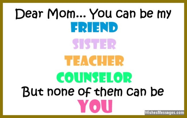 Love Quotes For Mother Adorable I Love You Messages For Mom Quotes  Wishesmessages