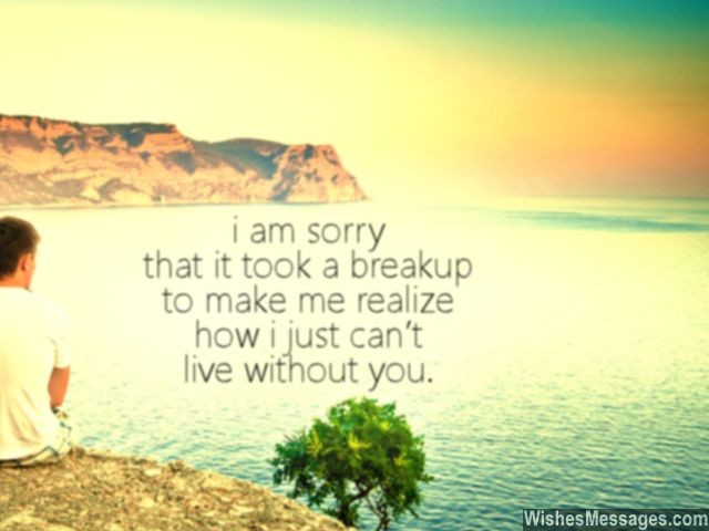 Breakup quote i can't live without you ex-girlfriend boyfriend