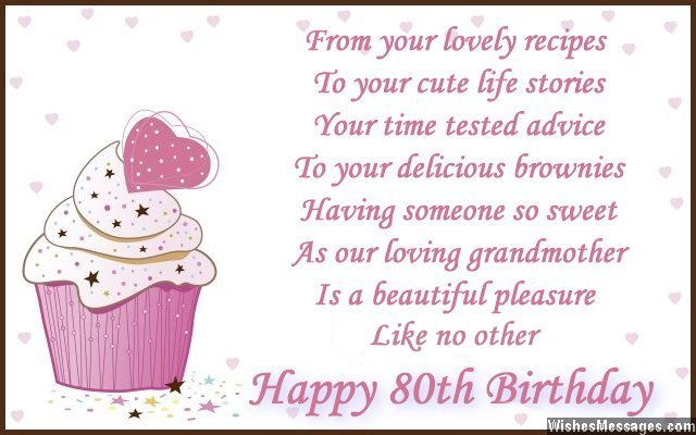 80th birthday wishes WishesMessages – Cute Birthday Card Sayings