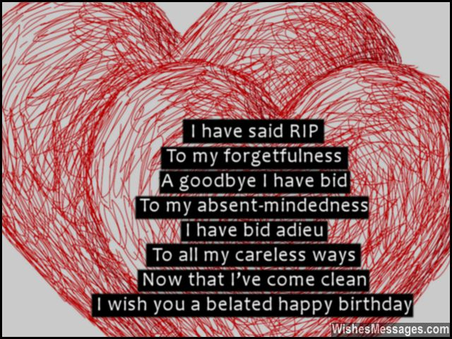 Belated Birthday Poems for Boyfriend: Late Birthday Poems for Him ...