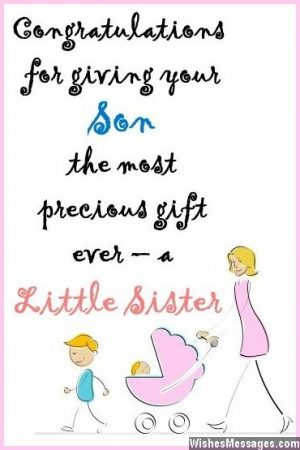 Cute congratulations pregnancy wish for a second child