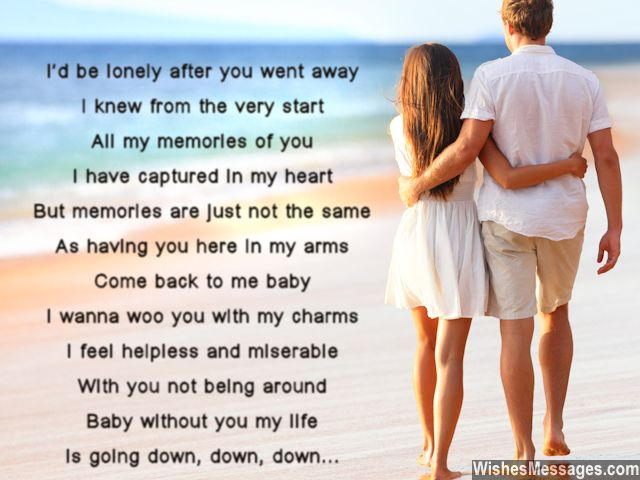 Cute i miss you poem to girlfriend from boyfriend