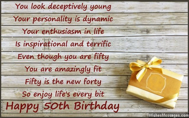 Inspirational 50th birthday card wish