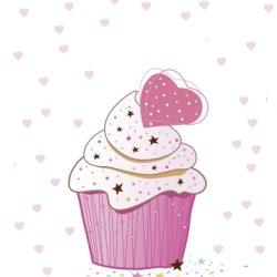 Pink cupcake graphic