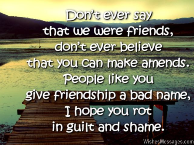 Sad Friendship Quotes: I Hate You Messages for Friends