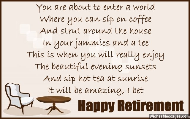 Retirement Poems for Colleagues and Co-workers ...