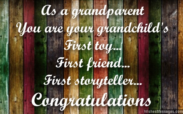 Congratulations greetings card message for grandparents