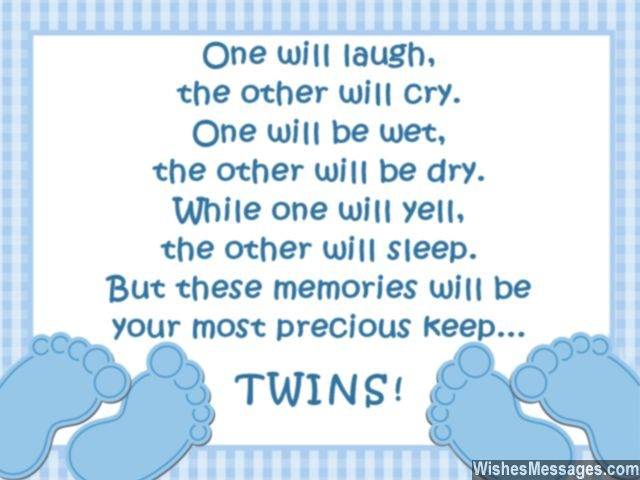 Cute quote for twins and parents of the baby