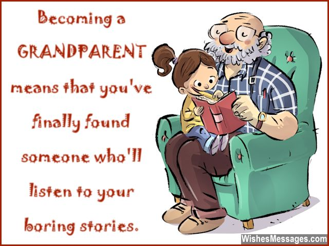 Funny message for new grandparents granddad and grandmom