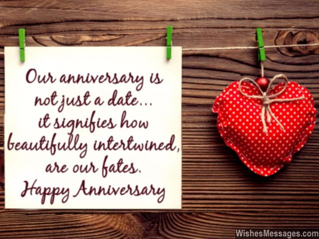 Happy Anniversary Message For Wife And Husband Love Fate