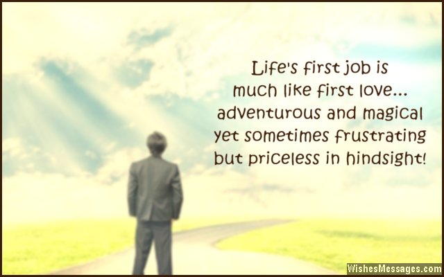 Delightful Inspirational Quote For First Job Inside Best Wishes In Life