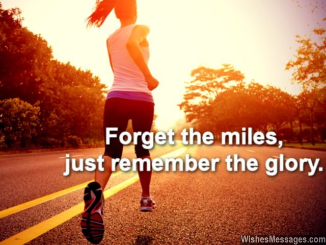 Inspirational quote for running and marathon runners