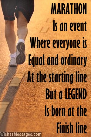 Marathon Running Motivational Quotes Inspirational quote to wish