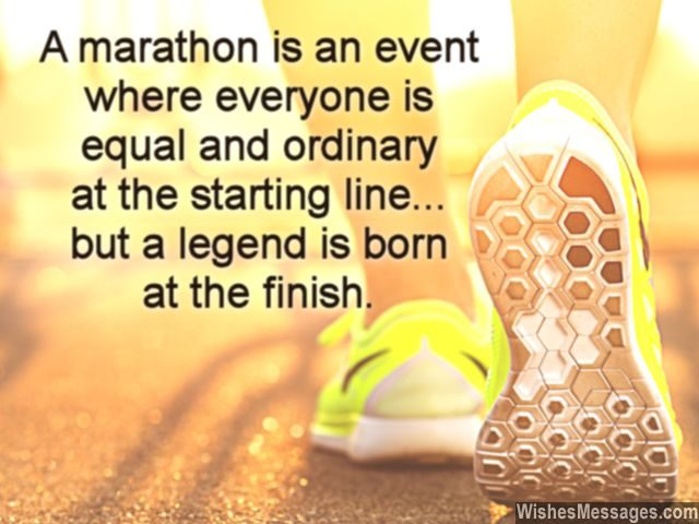 Motivational message for marathon runners to wish good luck