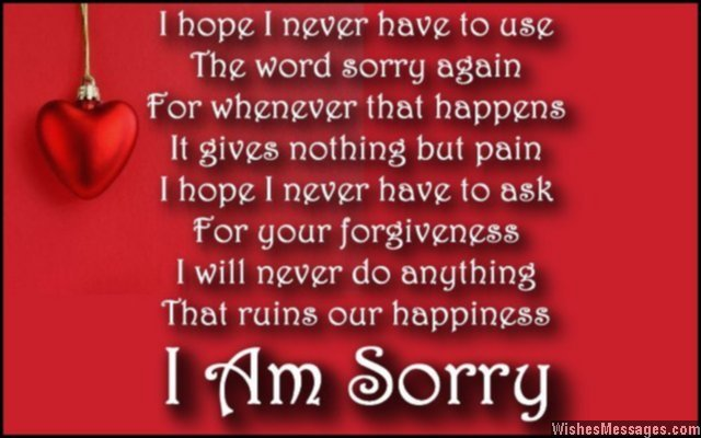 I Hate You Poems For Her: I Am Sorry Poems For Wife: Apology Poems For Her