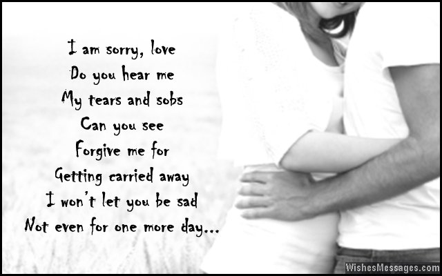 Romantic poem to say sorry to girlfriend