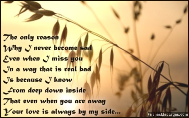 Romantic short missing you poem for her