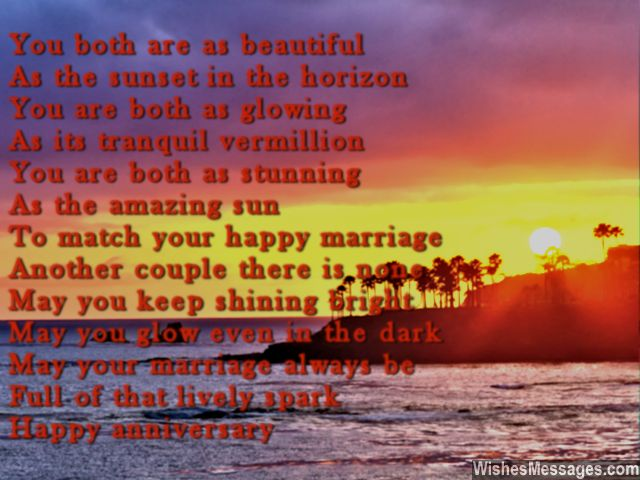 Sweet first wedding anniversary greeting card poem for husband wife