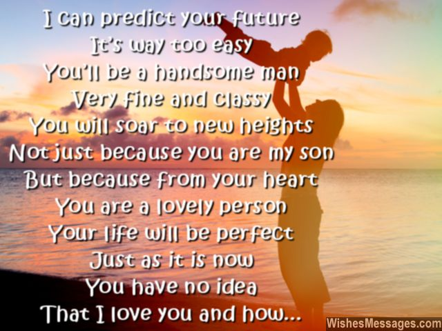 sweet quote to son from mother so say i love you