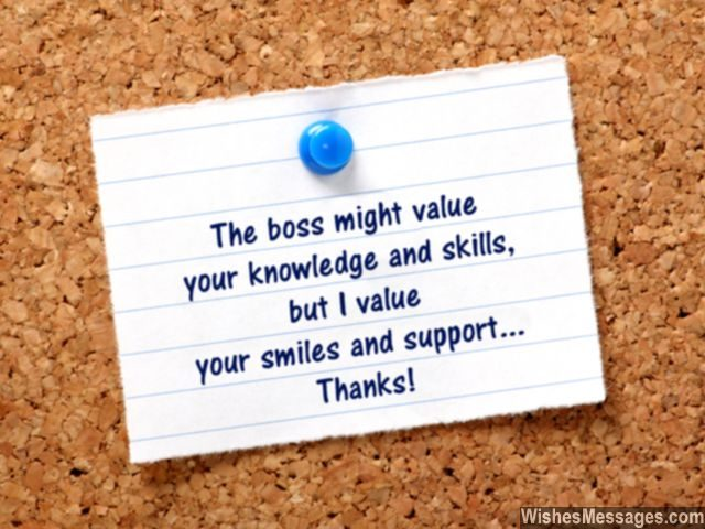 Thank You Notes For Colleagues Quotes And Messages