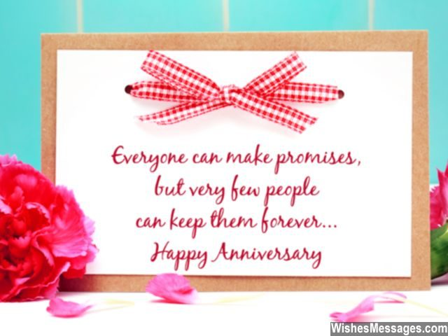 Anniversary wishes card for couples relationship promises