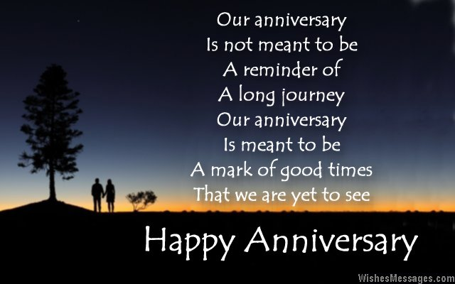 Beautiful happy anniversary card message to wife from husband