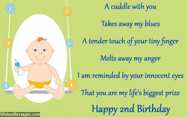 Cute Second Birthday Card Message